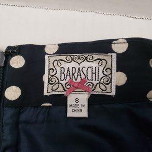 Womens Yoana Baraschi Blue White Polka Dot Skirt 8